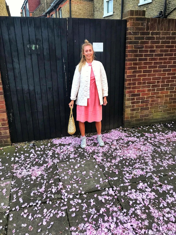 Vintage dress blossom convers H&M