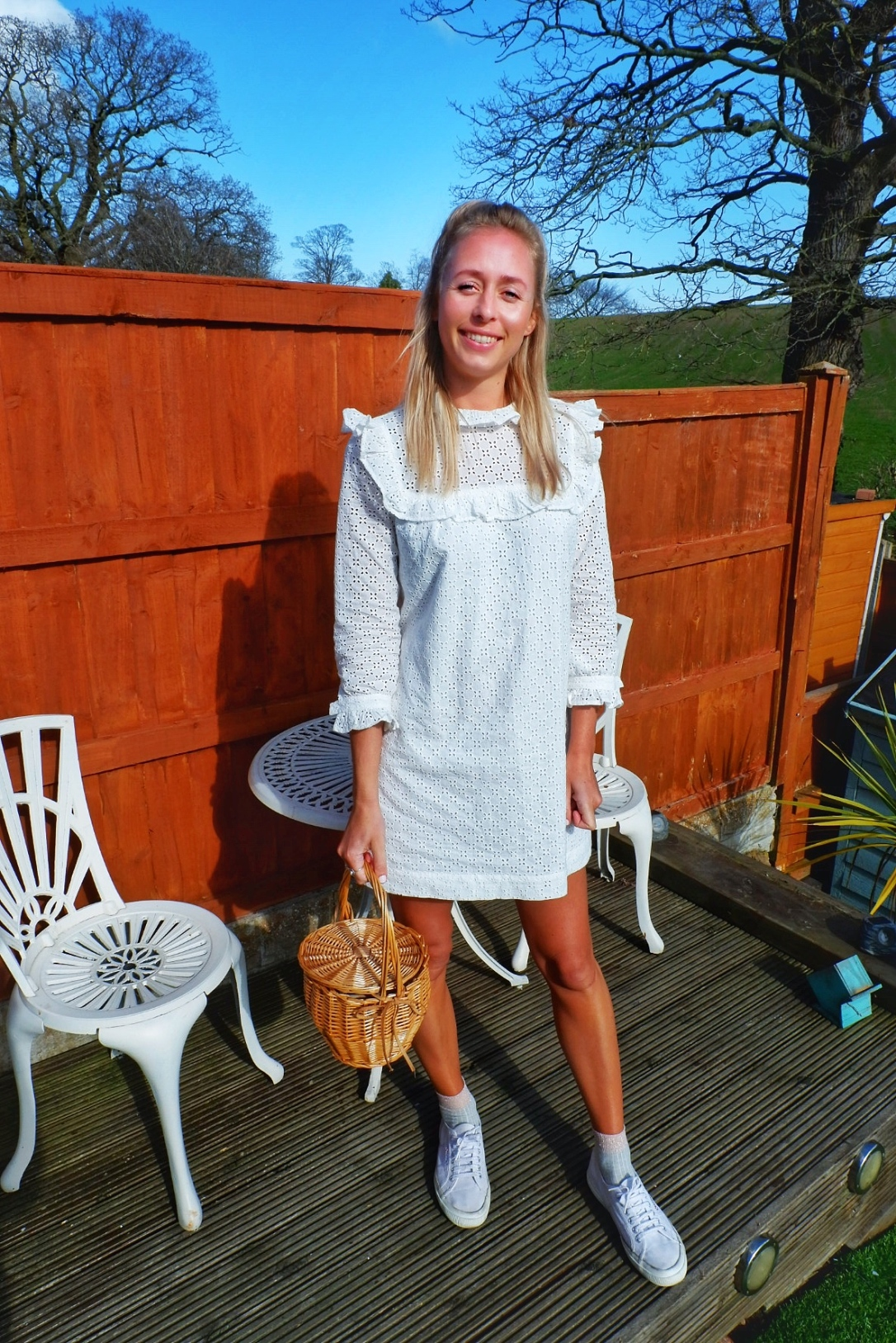 joanie gal white dress fashion