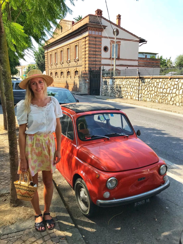 Vintage car fiat Sorrento Italy