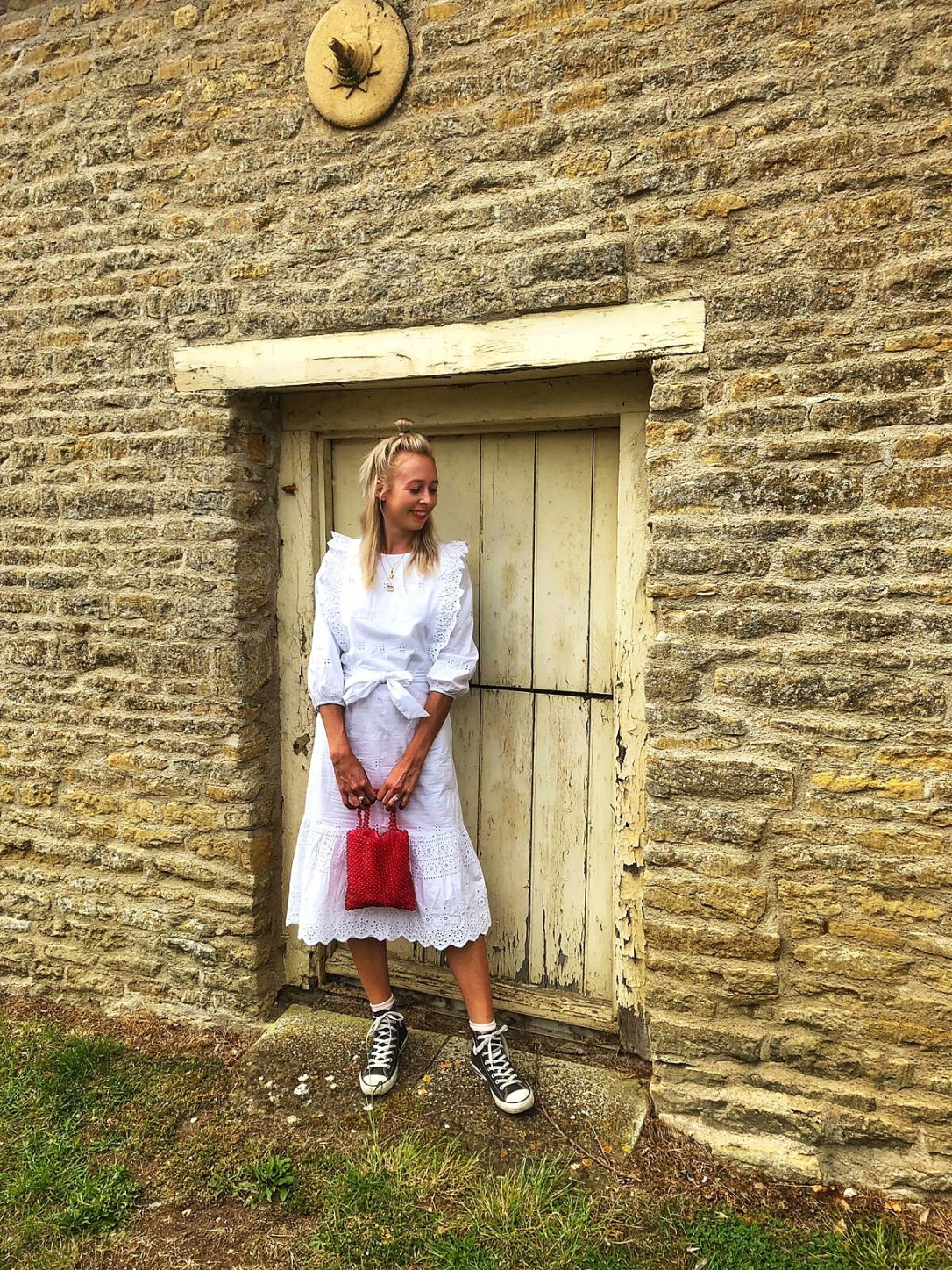 Whitedress M&S wiwt style fashion fblogger