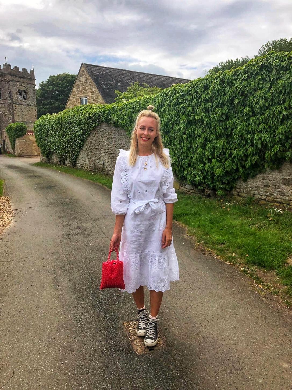 Whitedress M&S wiwt style fashion fblogger