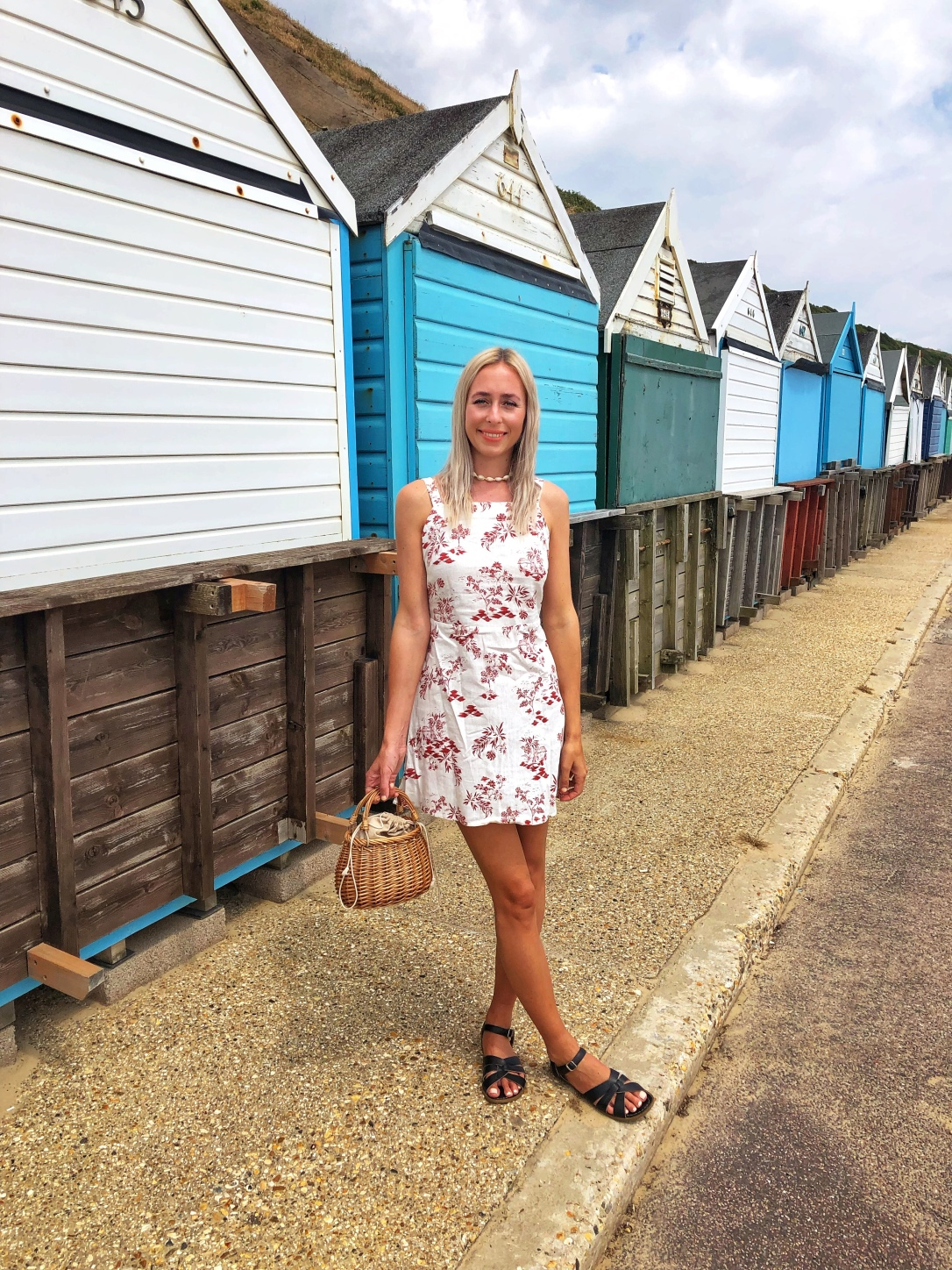 Fashion Nobodyschild beach seaside Boscombe linendress